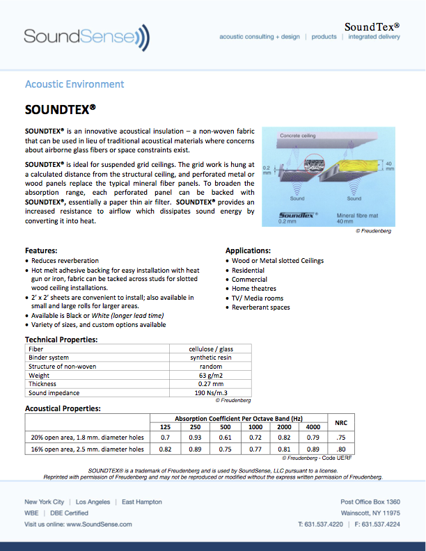 Soundtex Acoustic Environment